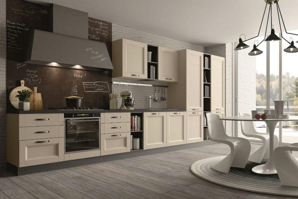 Cucina classica lineare con anta in frassino | Casastore Salerno