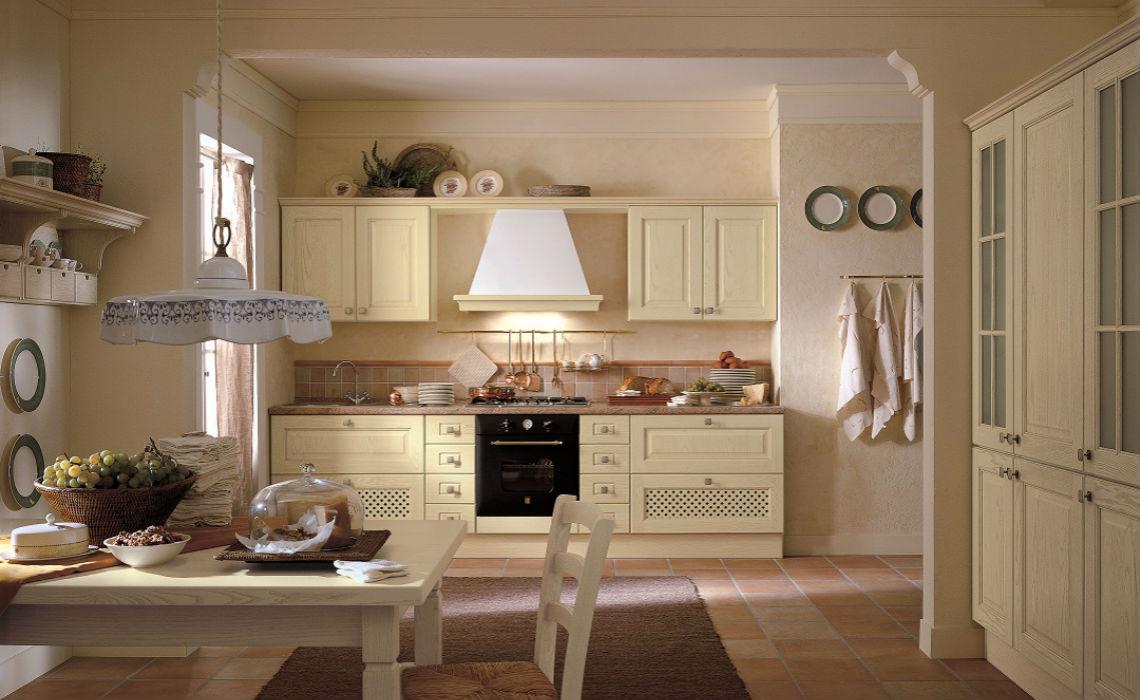 Cucina classica con anta in legno massello casastore salerno for Programma per comporre cucine