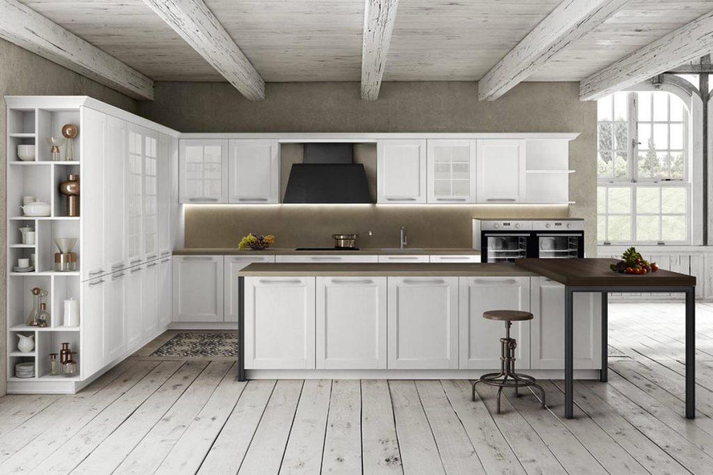 Cucina ad isola con piano snack contemporaneo | Casastore Salerno