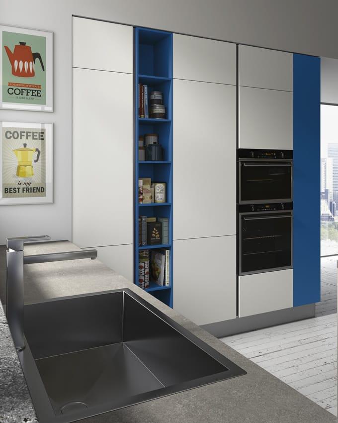 Fantasiosa Ed Unica Cucina Moderna : Cucina ad isola ideale per ambiente unico con il living