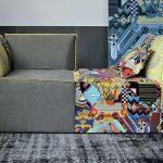 Flower la poltrona trasformabile in divano grazie all'accostamento di due o più elementi della stessa serie. Poltrone Design Moderno CasaStore Salerno.