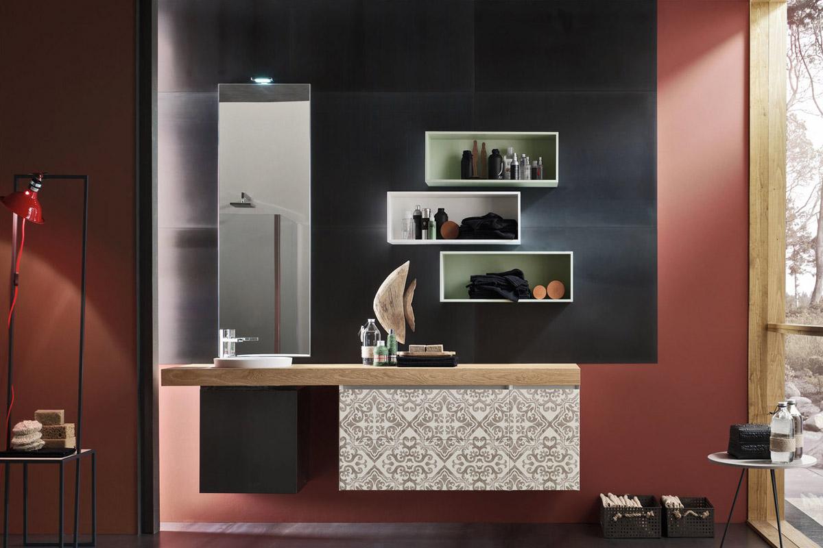 Composizione arredo bagno Magnetica 04 - Mobili da bagno componibili di design - CasaStore Salerno