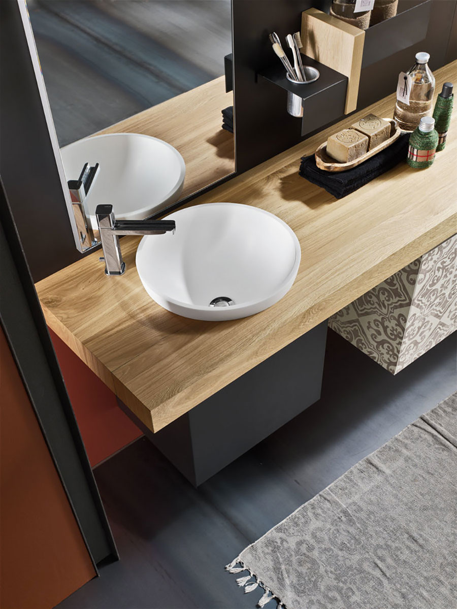 Emejing top bagno legno gallery for La casa magnetica