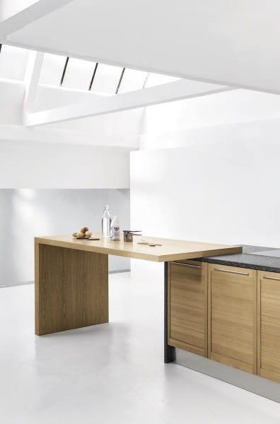 Cucina componibile moderna ante e piano snack in rovere top in porfido - Piano snack cucina ...