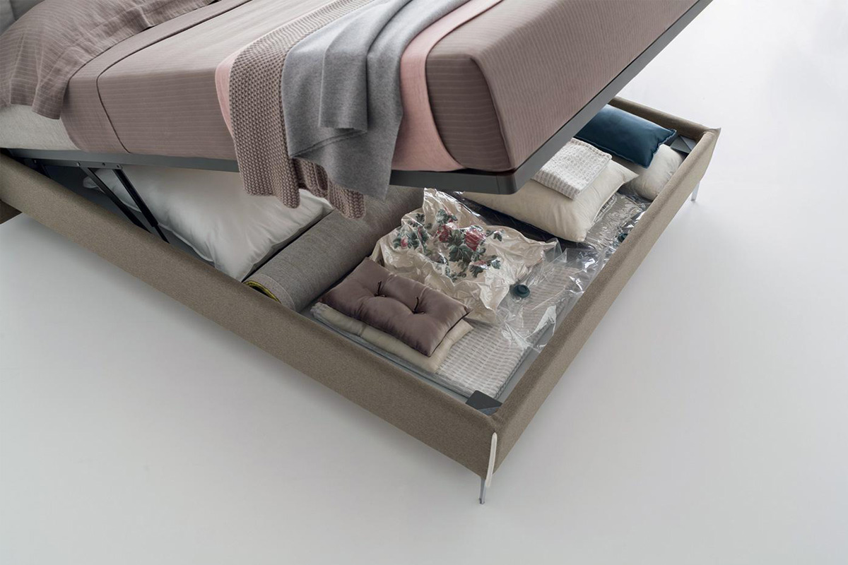 Letto Matrimoniale Affleck con contenitore rialzato da terra | CasaStore