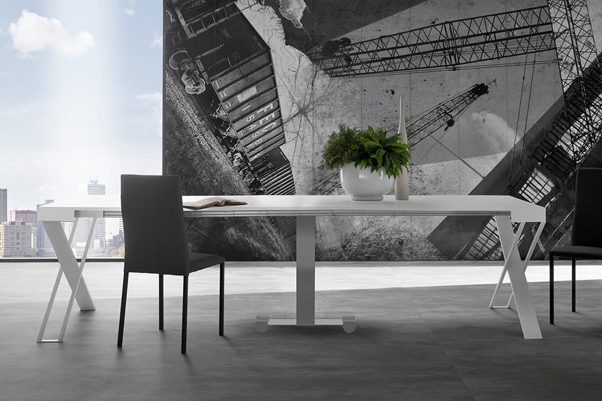 Consolle allungabile X-File Zamagna: consolle e tavolo da pranzo. Consolle dal design moderno CasaStore Salerno.