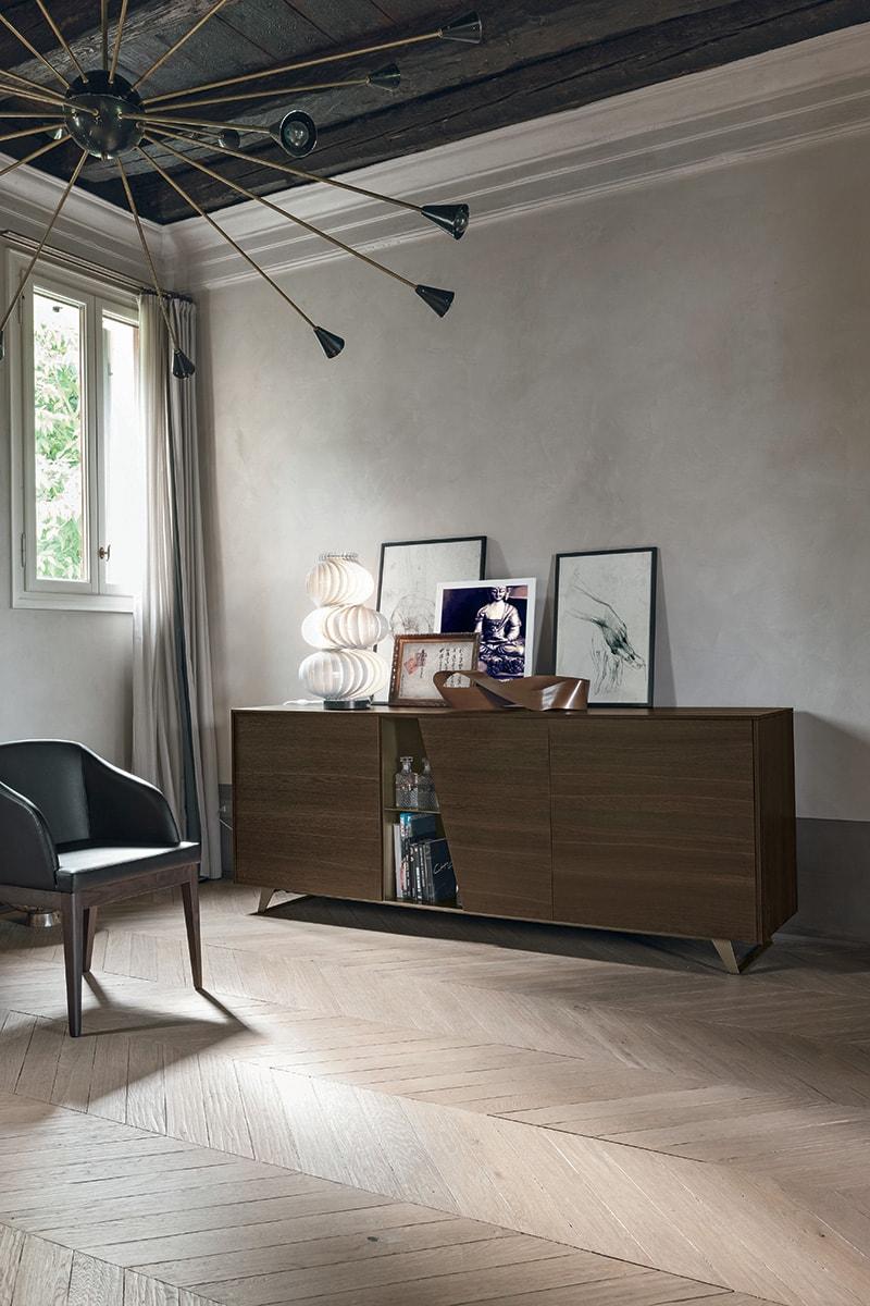 Madia diagonal dal design moderno con vani a giorno for Nicoloro arredamenti salerno