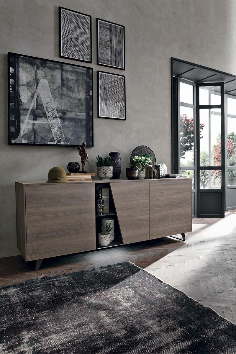 madia diagonal dal design moderno con vani a giorno