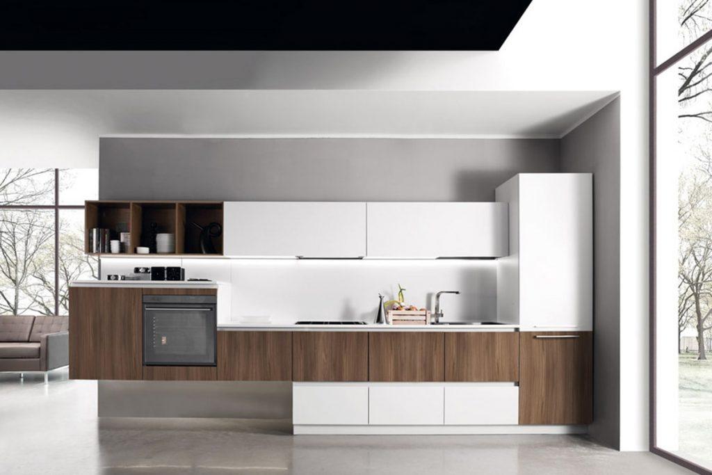 Cucina lineare con basi sospese / Arredamento Cucina CasaStore Salerno