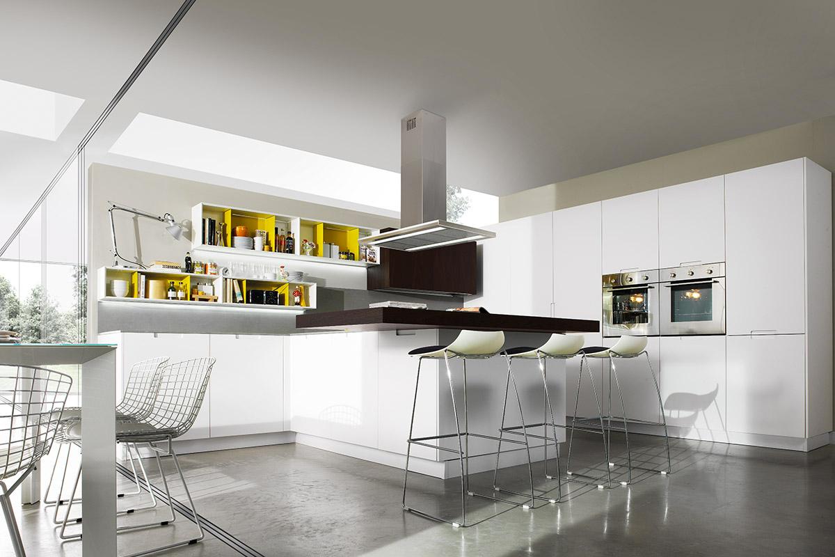 Cucina moderna con penisola elegant cucine moderne con - Cucina con penisola centrale ...