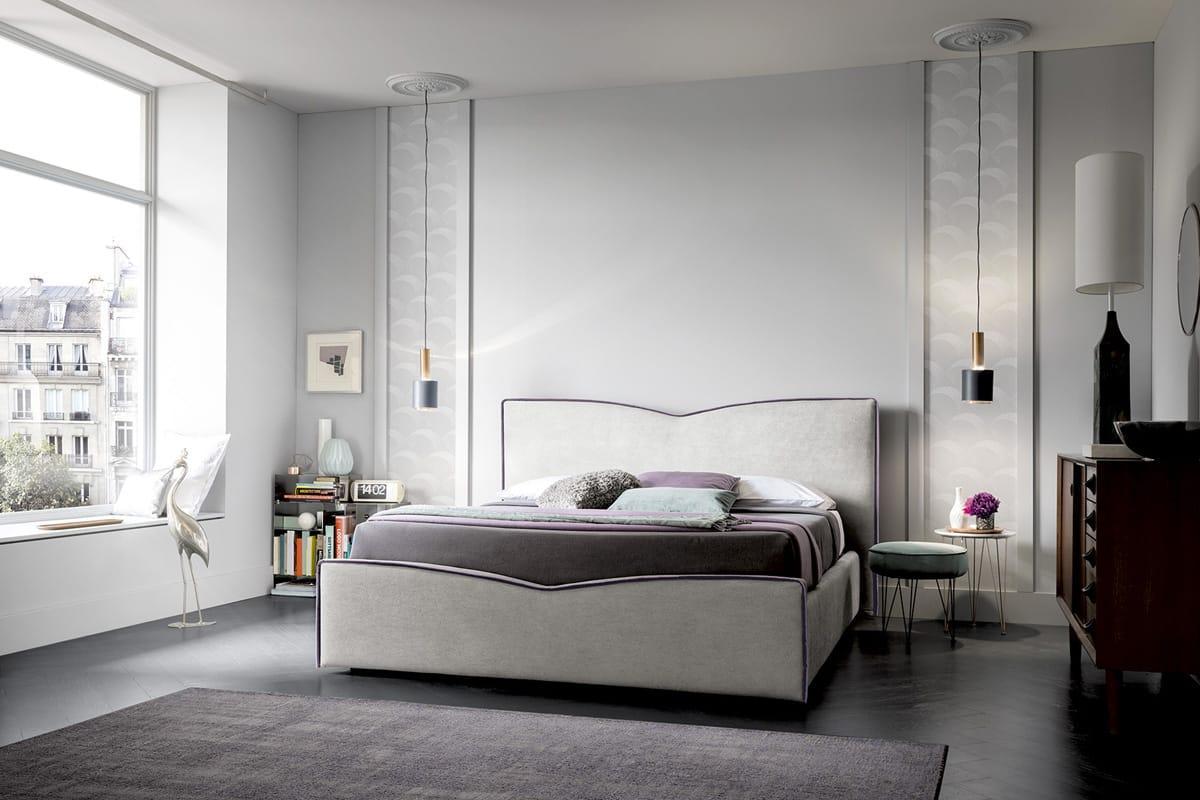 Letto megan design e romanticismo in camera da letto casastore - Camere da letto salerno ...