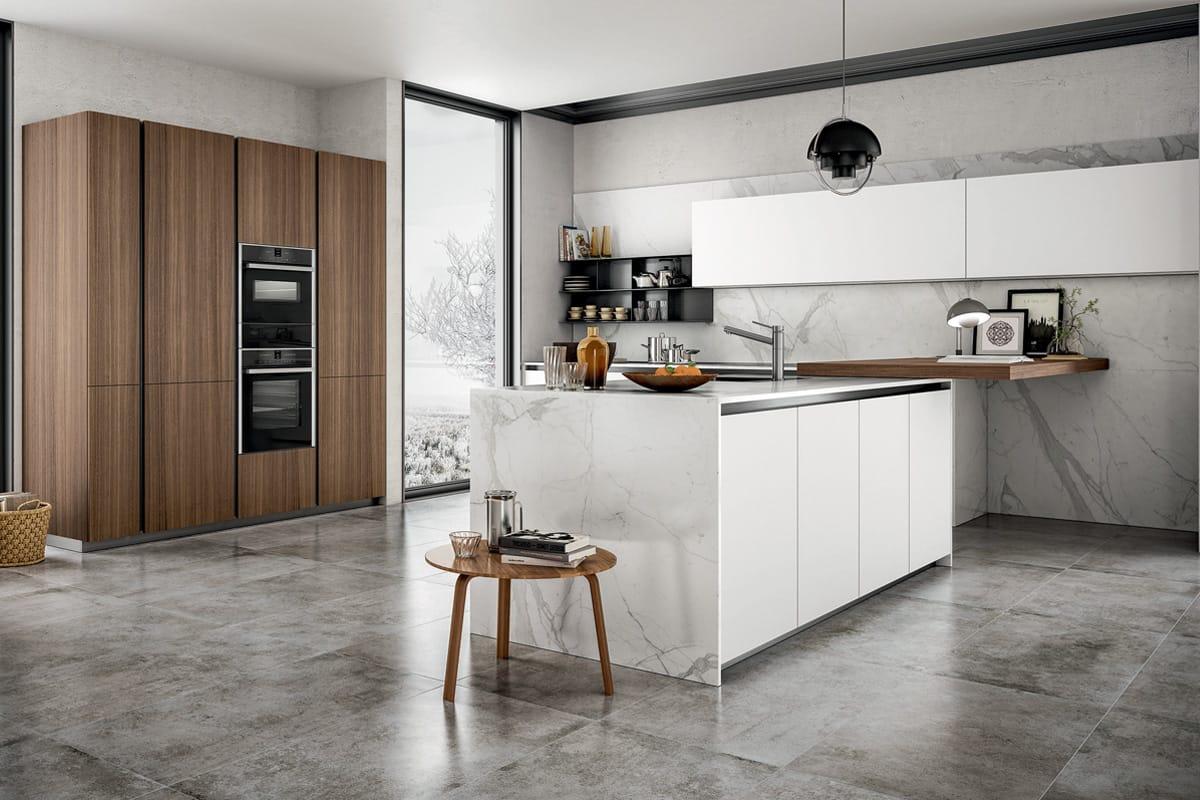 Cucina in stile giovane ed informale perfetta per unirsi al living casastore - Cucina ad isola ...
