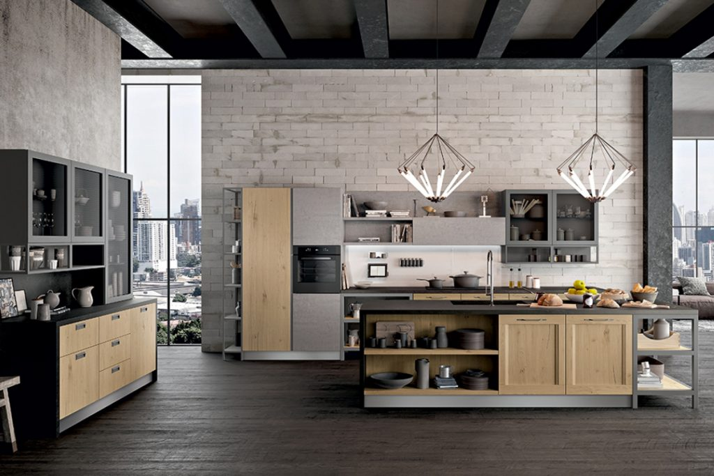 Cucina-design-contemporaneo-industrial-chic-Cucine-CasaStore-Salerno