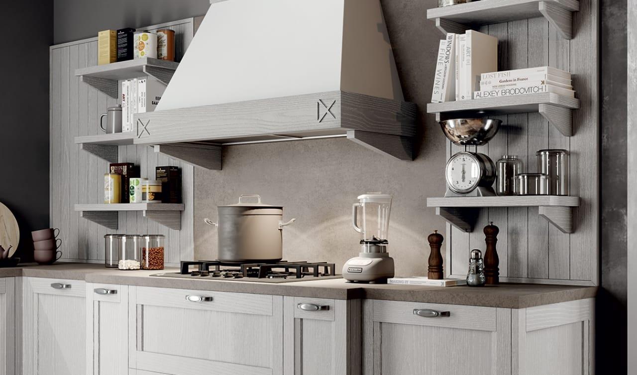 Cucina Shabby Chic in legno effetto decapè | Cucine Country Salerno