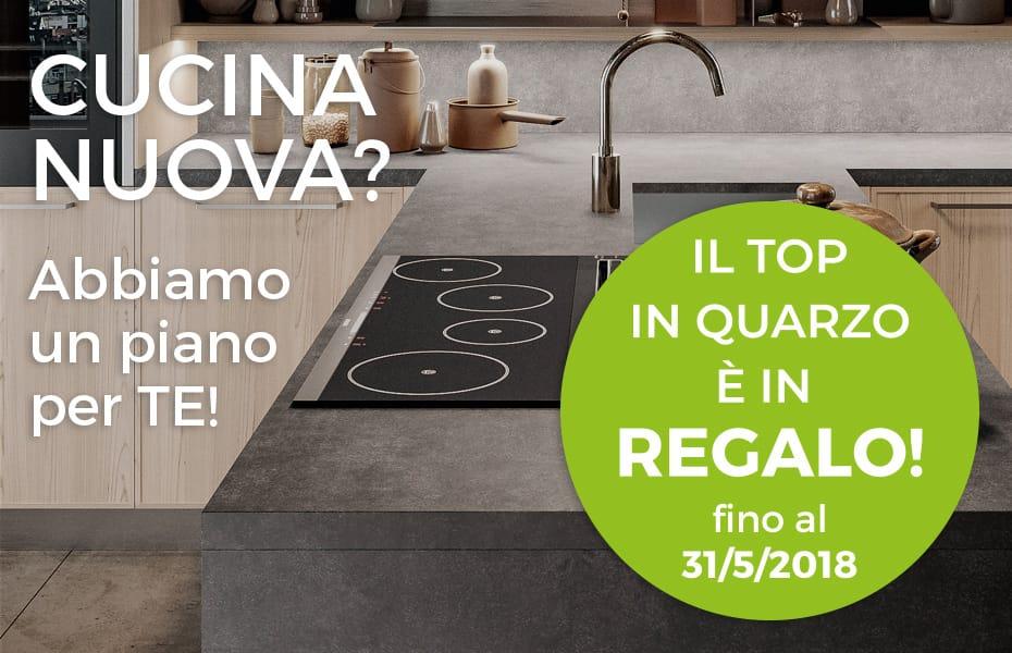 Promozione Speciale Cucine Salerno: Piano in quarzo in regalo da CasaStore Arredamenti Salerno.