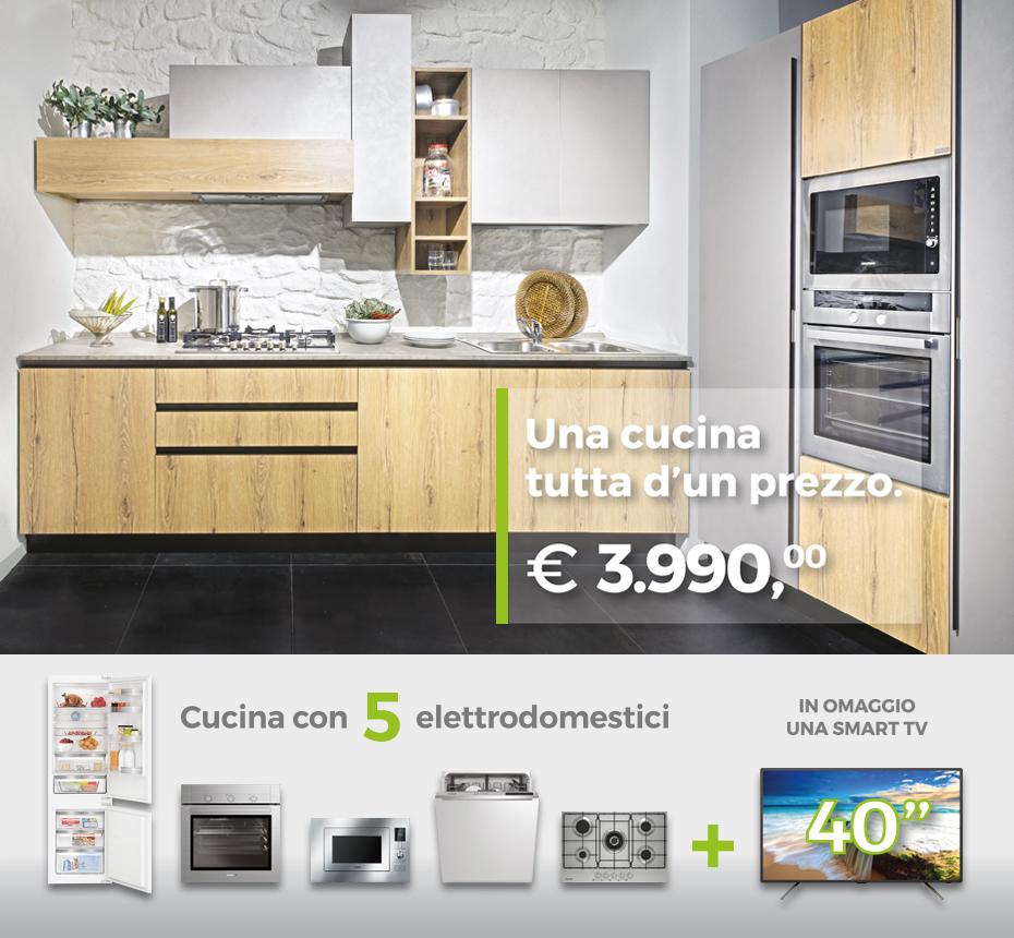 Una Cucina tutta d\'un prezzo - Offerta Cucina Composizione tipo ...