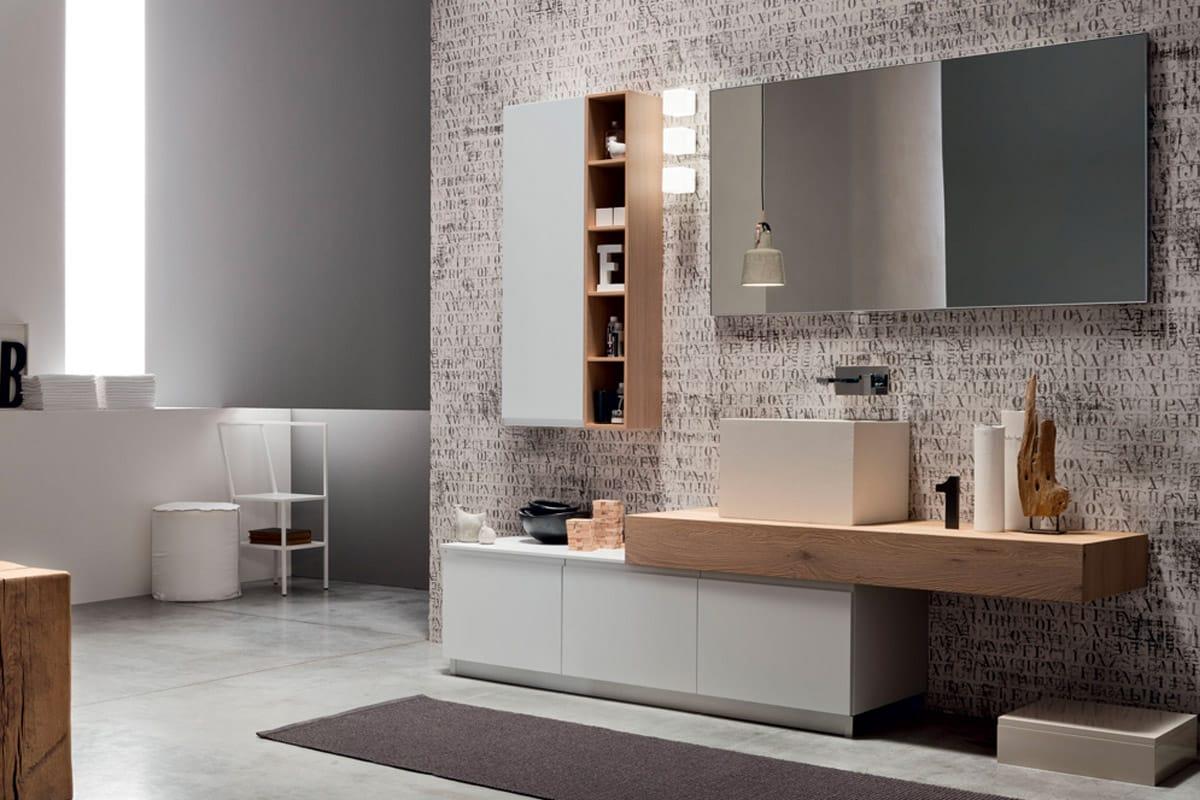 Soul - L'arredo bagno in rovere nodato e laccato bianco. Mobili bagno e soluzioni componibili byCasaStore Salerno.