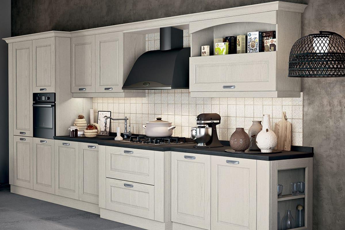 Cucina lineare in stile classico - contemporaneo | Cucine ...