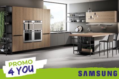 Acquista una cucina e scegli il tuo omaggio tra 4 fantastici prodotti Samsung