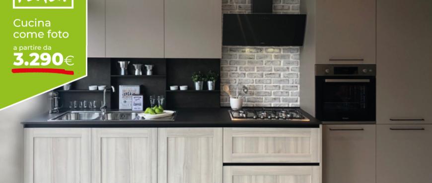 Cucina in offerta a prezzo fisso - Cucina composizione fissa Arredamenti Casastore Salerno