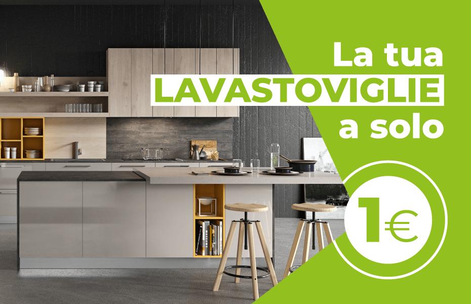 Offerta Cucine Salerno: Promozione Lavastoviglie A+ a 1-euro. CasaStore Arredamenti Salerno