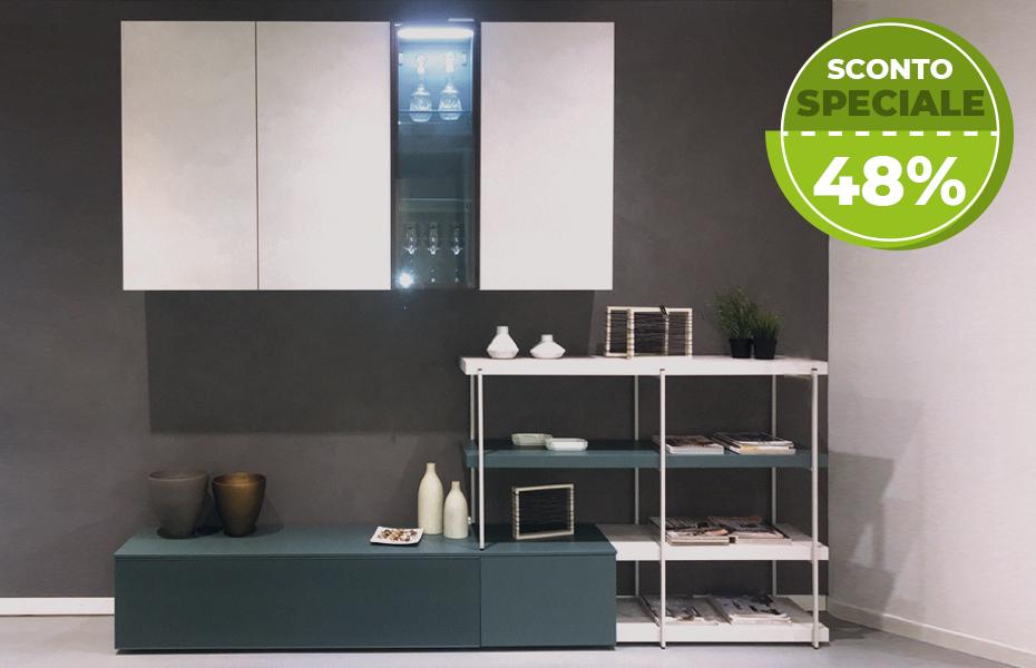Offerta Parete Attrezzata -Sconto-per-Rinnovo-Esposizione-Arredamenti-CasaStore-Salerno