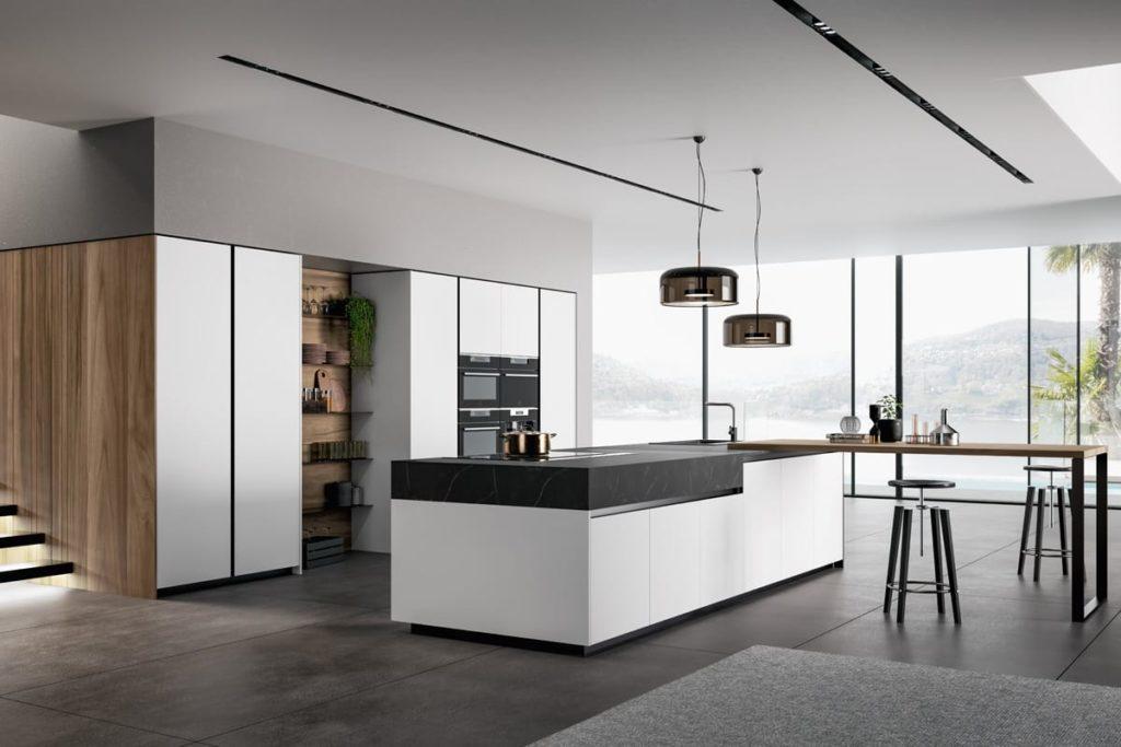 Cucina Glass 2.0 (composizione 06) by Arredo3. CasaStore Arredamenti è rivenditore autorizzato a Salerno Cucine Arredo3.