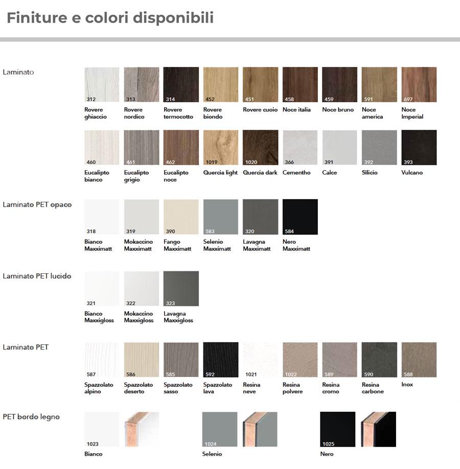 Laminato in 39 differenti tinte tra cui scegliere la finitura della Cucina in promozione - CasaStore Arredamenti Salerno