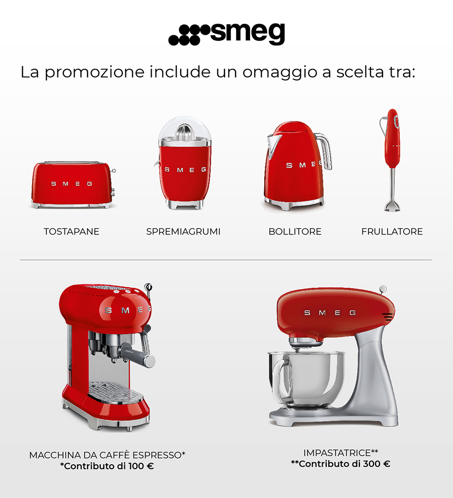 Omaggi Smeg Offerta Cucina composizione tipo Arredo3-CasaStore Arredamenti Salerno
