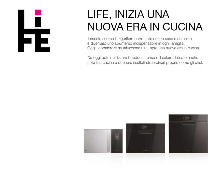 Coldline living: Nuova gamma Abbattitori Life W30 free-standing, Life W45 e LIFE W60 da incasso.