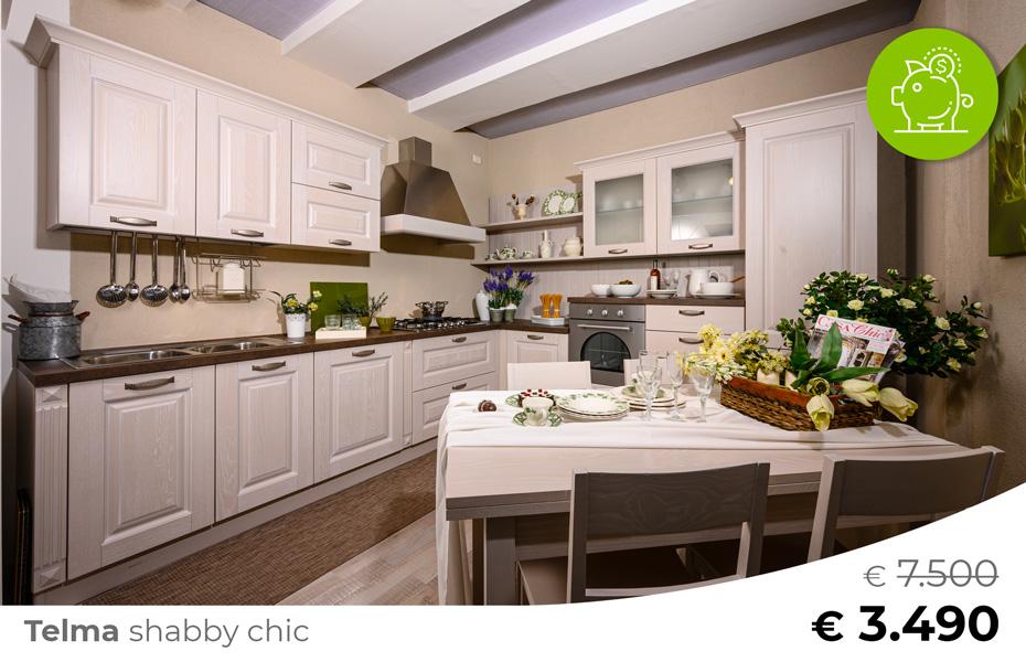 Cucina-stile-shabby-chic-TELMA-Sconto-50%-per-rinnovo-esposizione-CasaStore-Arredamenti-Salerno